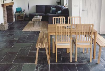 Customer Project - Kath's amazing renovation with Natural Charcoal Grey Slate