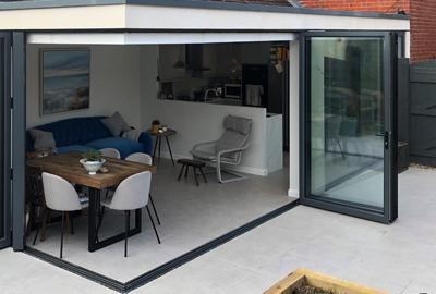 Customer Project - Laura transforms her home with New York light grey indoor outdoor floor tiles