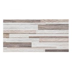 Aura Beige Split Face Effect Porcelain Wall Tiles - swatch