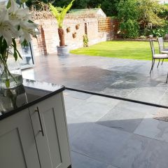 Natural Black Slate Tiles 600x600m - Outdoor Inddor.1