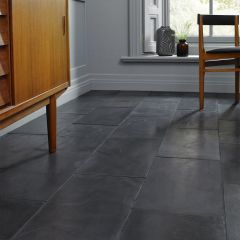 BRUSHED BLACK SLATE TILES - 600X400MM - LIFESTYLE
