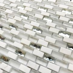 Carrera Art Deco  Mosaic Wall Tiles  - Close up