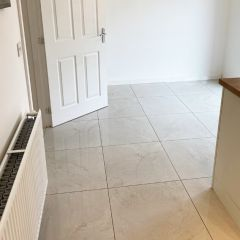 Florence Ivory 600x600mm Kitchen floor