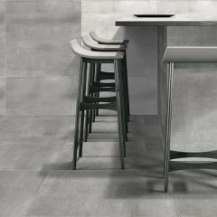 Indus Dark Grey Concrete Effect Wall & Floor Tiles - 600x300mm - Lifestyle