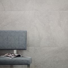 Loft Charcoal Grey Stone Effect Porcelain Floor & Wall Tiles - Lifestyle