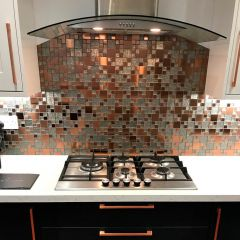 Lunar Copper Metal & Glass Modular Mosaic-Customer Project - Tony Childs1