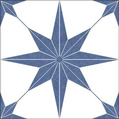 Lyra Navy Star Pattern Wall & Floor Tiles-swatch