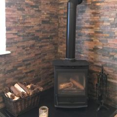 RUSTIC  SLATE SPLIT FACE MOSAIC TILE - CUSTOMER PROJECT