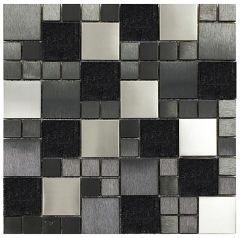 Metallic random mix mosaic wall tiles