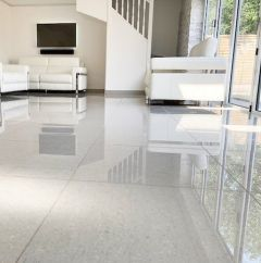 Royale Light Grey Polished Porcelain - 600x600mm Open plan living
