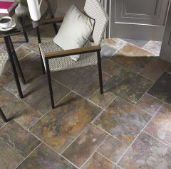 NATURAL SHEERA MULTICOLOUR SLATE TILES - MODULAR SET - LIFESTYLE