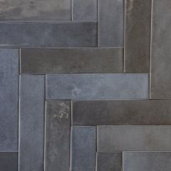 Paris Navy Brick Wall Tiles - Herringbone