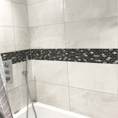 Midas Shell & Metallic Mosaic - contemporary bathroom