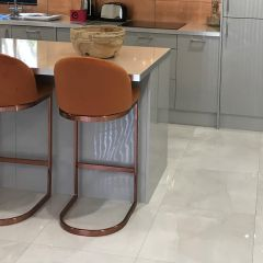 Pietra Ivory Polished Porcelain Floor Tiles - 600x600mm Contemporary copper kitchen