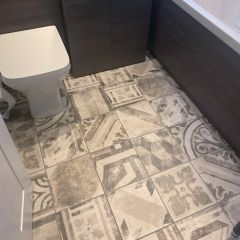 Ravello Grey Patterned wall and floor tiles - bathroom