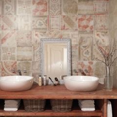 Ravello Rosso Patterned Tiles