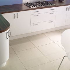 Royale Vanilla Matt Porcelain Tiles - 600x600mm Contemporary Kitchen