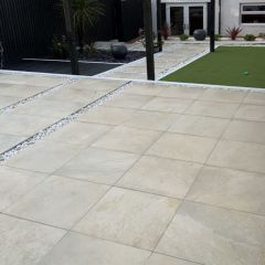 sjbartwork Miami Ivory 600x600mm slab contemporary garden