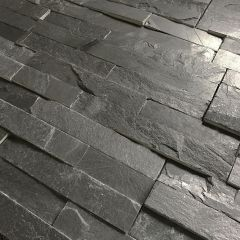 Rustic Black Slate Split Face Mosaic Tiles - Small CLOSE UP