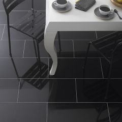 PREMIUM ABSOLUTE BLACK GRANITE TILES 610X305MM - LIFESTYLE