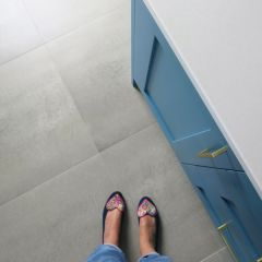 Urban Grey Concrete Cement Effect Floor Tiles With Underfloor Heating