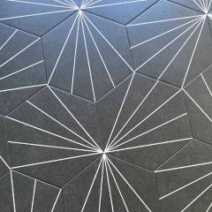 Vector Black Hexagon Tiles - Repeat