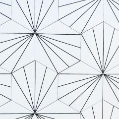 Vector White Hexagon Tiles - Repeat