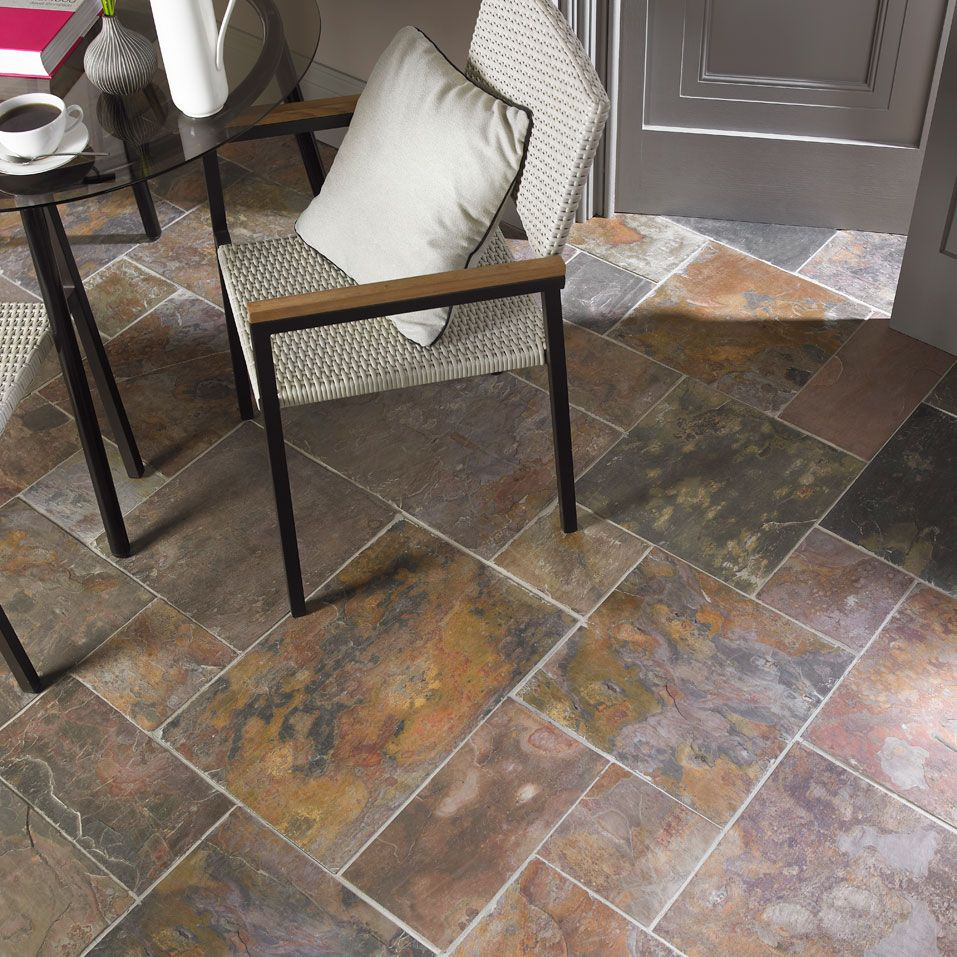 Slate flooring and wall tiles the classic choice the for Classic kitchen floor tile