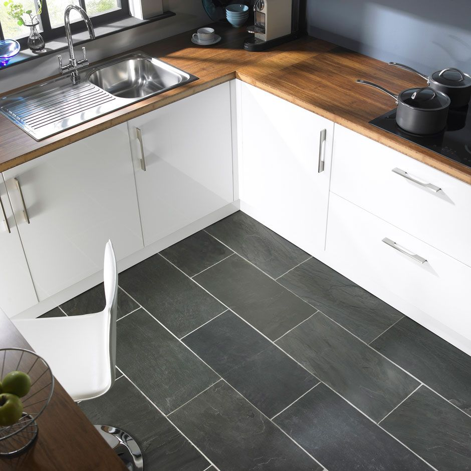 kitchen floor tile. Black Slate 600x300mm Latest Inspirational Kitchen Photography  The Stone Tile Company