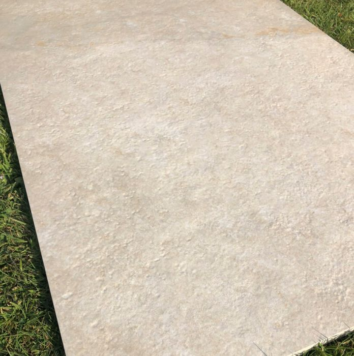 Close up of miami ivory outdoor XL slab tile
