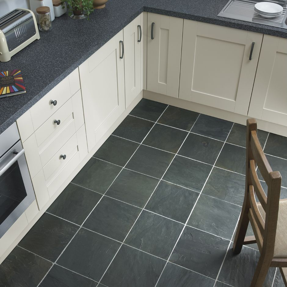 Latest inspirational kitchen photography the stone tile for Grey kitchen floor tiles ideas